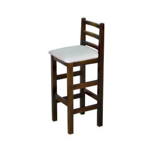 Banqueta com Assento Estofado - Pérola Metalizado