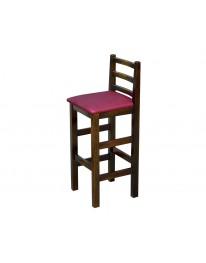 Banqueta Com Assento Estofado - Bordo Metalizado