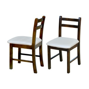 Kit com 02 Cadeiras com Assento Estofado - Pérola Metalizado